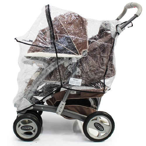 Raincover For Graco Quattro Deluxe - Baby Travel UK  - 7
