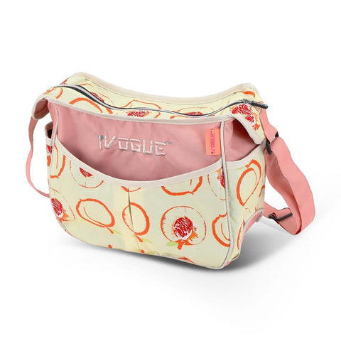 iVogue Designer Changing Bag - Peach (Complete With Changing Mat)