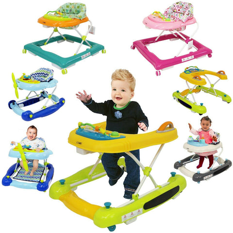 iSafe Foldable Baby Walker Rocker Entertainers Walk Along Activity Centres