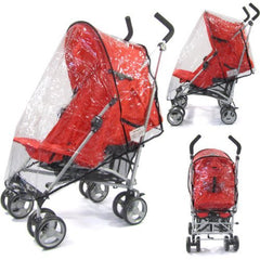 Raincover Throw Over For Chicco Echo Stroller Buggy Rain Cover - Baby Travel UK  - 1