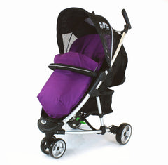 New Plum Padded Footmuff & Liner To Fit Quinny Zapp Petite Star Zia Obaby Zoma - Baby Travel UK  - 1
