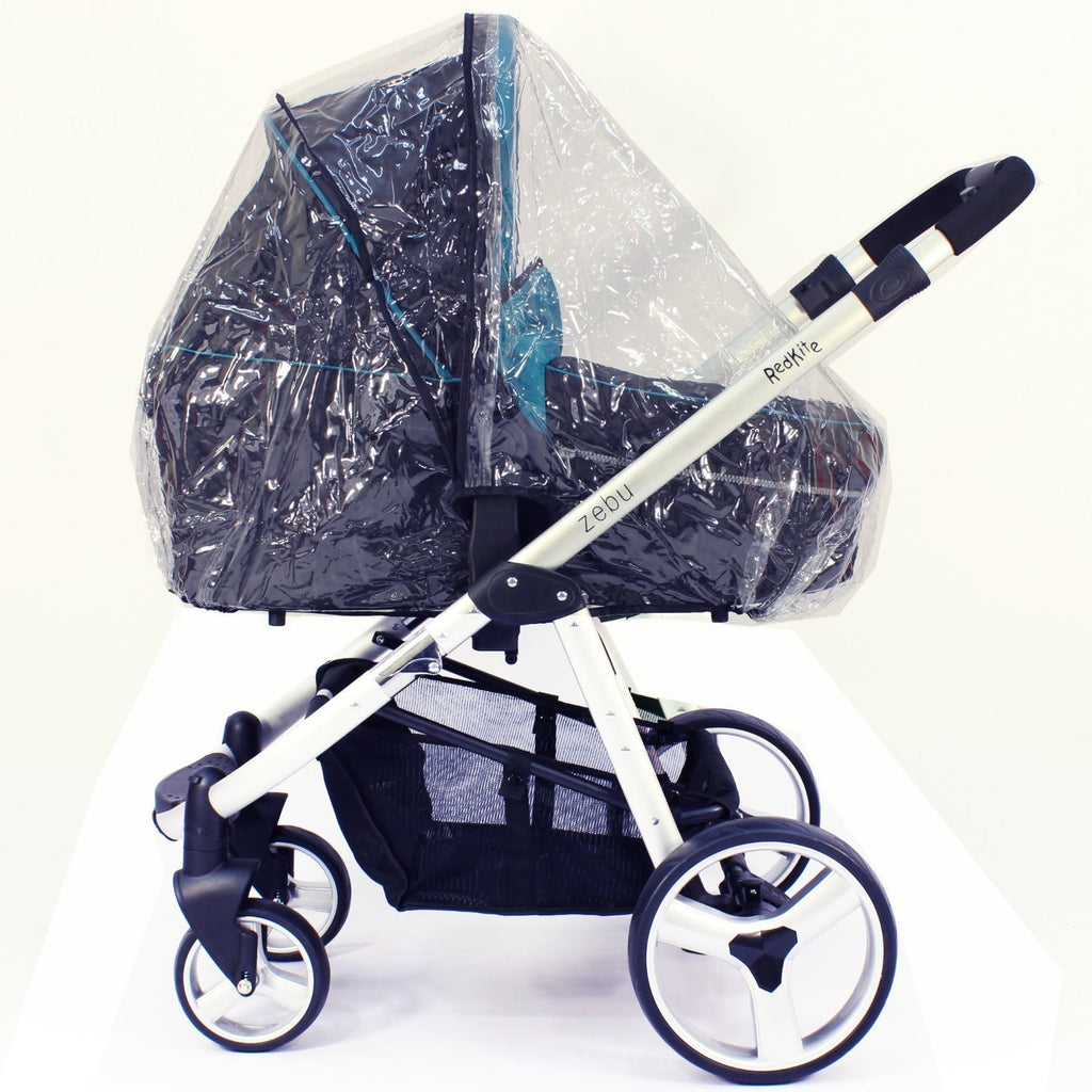Universal Raincover Silver Cross Freeway Combination Pushchair Ventilated - Baby Travel UK  - 1