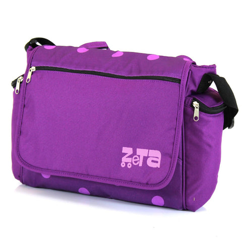Baby Travel Zeta Changing Bag - Plum Dots