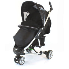 Universal Black Footmuff With Pouches Fit Quinny Zapp Stroller - Baby Travel UK  - 1