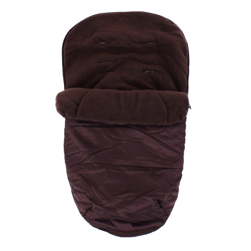 Stroller Pushchair Footmuff With Pouches Fits Zeta, Quinny Zapp - Brown - Baby Travel UK  - 1