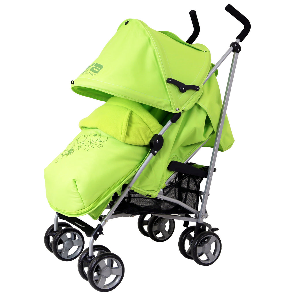 New Baby Stroller Pushchair Buggy With Footmuff Headhugger - Baby Travel UK  - 1