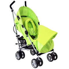 New Baby Stroller Pushchair Buggy With Footmuff Headhugger - Baby Travel UK  - 4