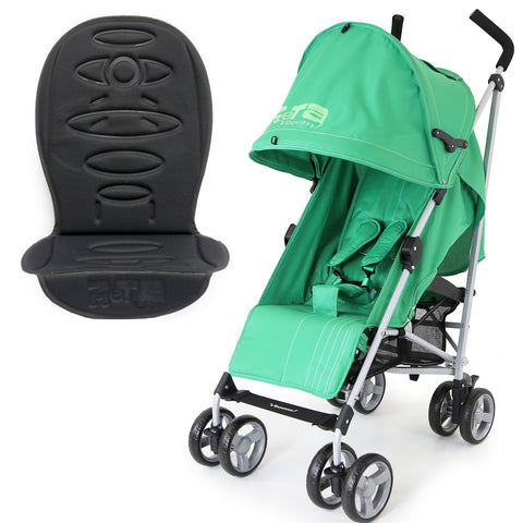 Zeta Vooom - Leaf + Luxury Buggy Stroller Padded Linear Black