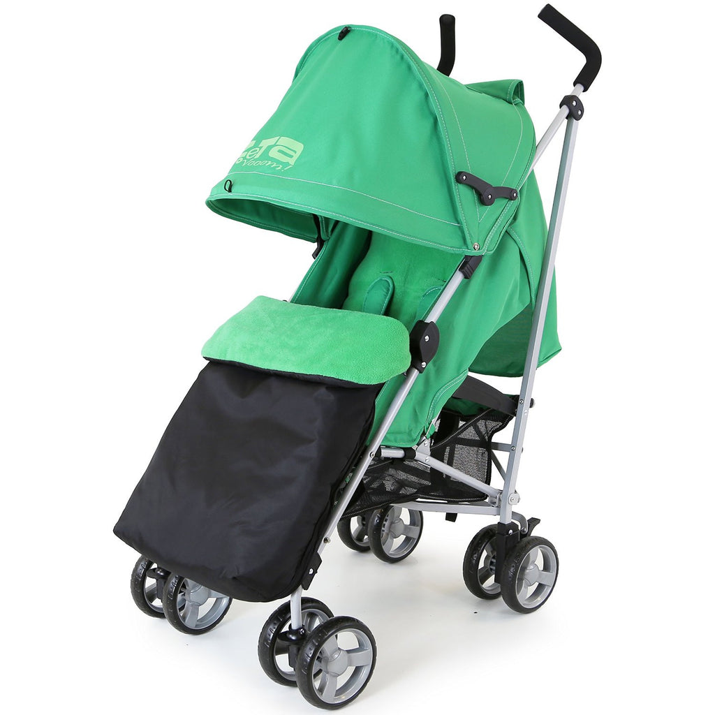 Zeta Vooom Baby Pushchair & Deluxe Footmuff - Leaf - Baby Travel UK  - 1
