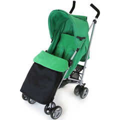 Zeta Vooom Baby Pushchair & Deluxe Footmuff - Leaf - Baby Travel UK  - 2