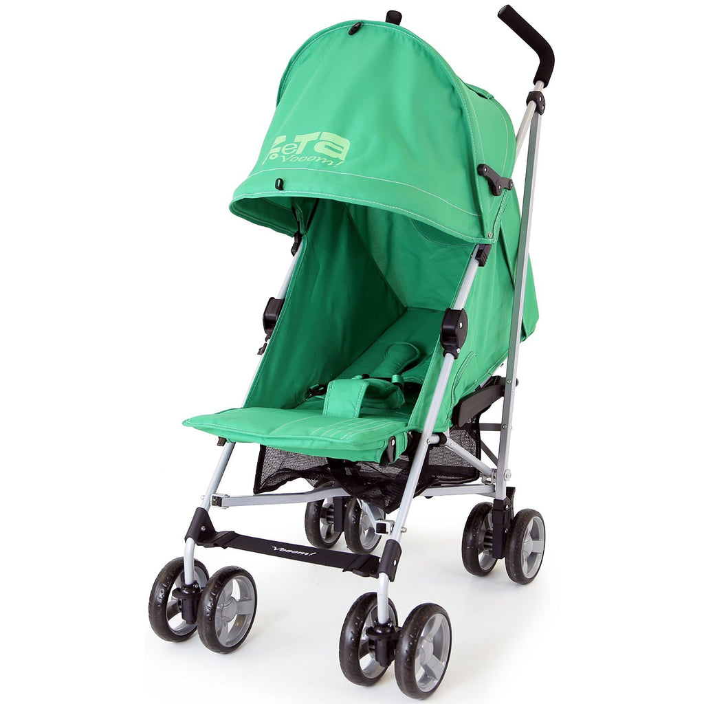 Zeta Vooom Baby Pushchair & Deluxe Footmuff - Leaf - Baby Travel UK  - 4