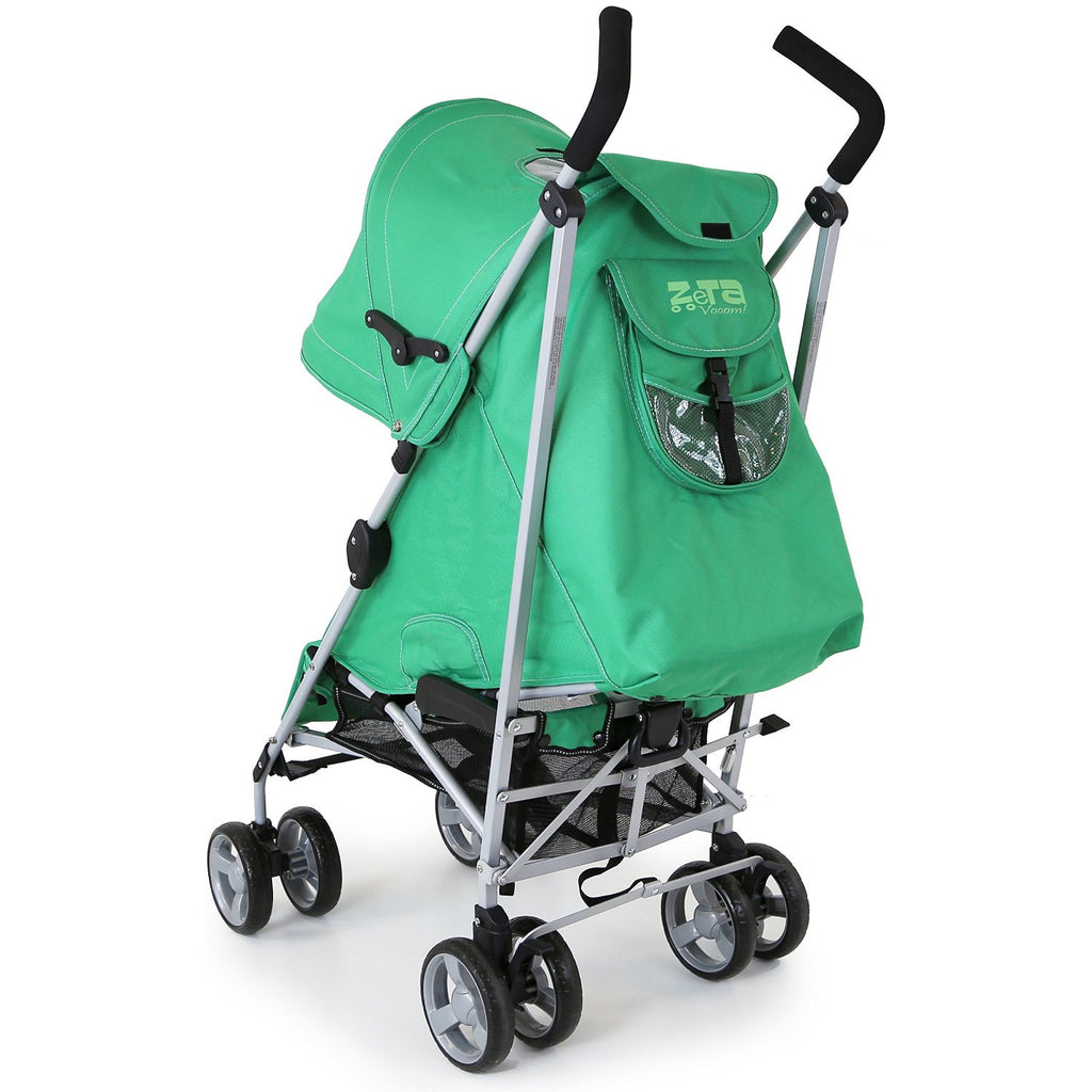 Zeta Vooom Baby Pushchair & Deluxe Footmuff - Leaf - Baby Travel UK  - 7
