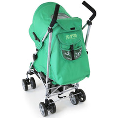 Zeta Vooom - Leaf With Luxury Buggy Stroller Padded Liner And RainCover - Baby Travel UK  - 7