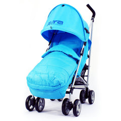 Zeta Vooom - Ocean Blue With Large Footmuff - Baby Travel UK  - 1