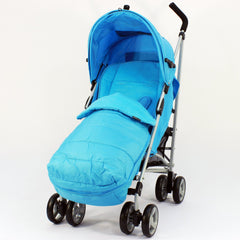 Zeta Vooom Ocean (complete Plain) Padded Footmuff Liner Stroller Pushchair - Baby Travel UK  - 1