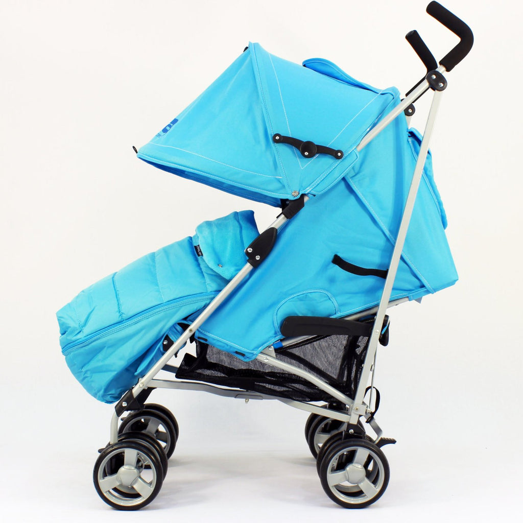 Zeta Vooom Ocean (complete Plain) Padded Footmuff Liner Stroller Pushchair - Baby Travel UK  - 4