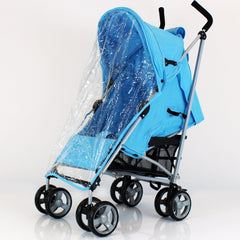 Zeta Vooom - Ocean Blue With Large Footmuff - Baby Travel UK  - 7