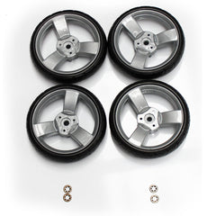 (Spare Parts) Zeta Vooom Wheels - Rear - Grey x4 Stroller Pushchair Buggy …