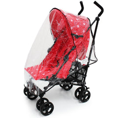 Raincover Throw Over For Zeta Vooom Stroller Buggy Rain Cover - Baby Travel UK  - 2
