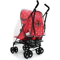 Raincover Throw Over For Zeta Vooom Stroller Buggy Rain Cover - Baby Travel UK  - 4