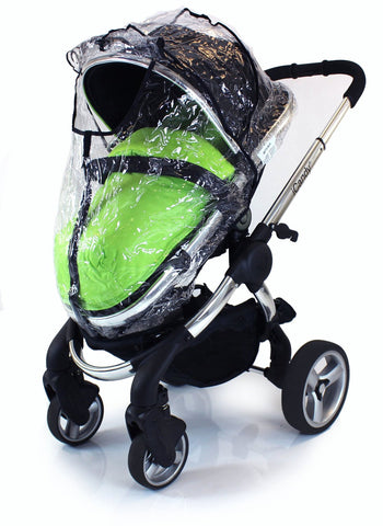 Rain Cover For Obaby Zezu Stroller & Carrycot Raincover All In One Zipped