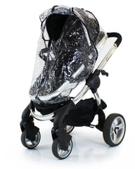 Rain Cover For Obaby Zezu Stroller & Carrycot Raincover All In One Zipped - Baby Travel UK  - 3