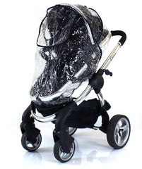 Rain Cover For Obaby Zezu Stroller & Carrycot Raincover All In One Zipped - Baby Travel UK  - 4