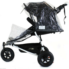 Rain Cover Universal  Zipped Hauck Baby Jogger 3 Wheeler Pushchair Raincover - Baby Travel UK  - 2