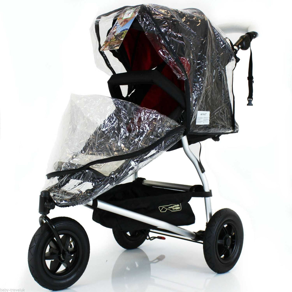 Rain Cover Universal  Zipped Hauck Baby Jogger 3 Wheeler Pushchair Raincover - Baby Travel UK  - 1