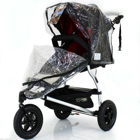 Rain Cover Universal  Zipped Hauck Baby Jogger 3 Wheeler Pushchair Raincover
