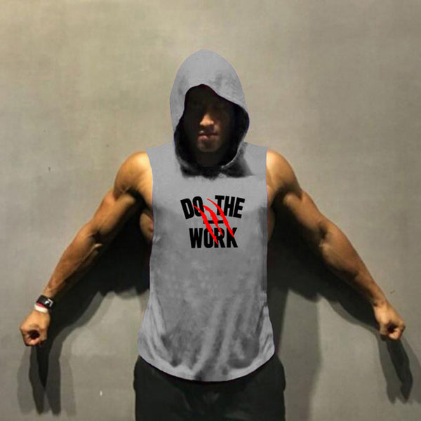 Muscleguys Brand clothing Bodybuilding hoodie Shirt Fitness Men Tank Top Muscle Vest Stringer Undershirt DO THE WORT TankTop