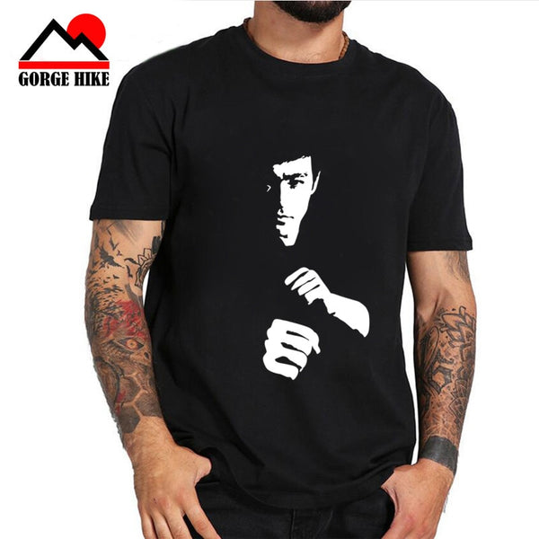 Kung fu superstar Lee Cotton T Shirt Summer Bruce The Dragon Design T Shirt Popular Customized Printed Tops Fashion Funny Tees