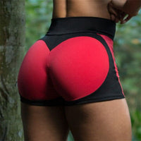 New Fashion Heart Pattern Splicing fitness Leggings Women Sporting Workout short Leggins Elastic Slim Sexy Push Up High Waist