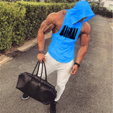 Mens Cotton Hoodie Sweatshirts Gyms Fitness Clothes Bodybuilding Tank Top Men Sleeveless Sportswear Tees Shirt Casual Vest