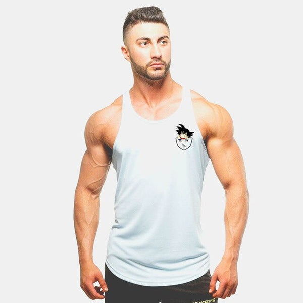 Bodybuilding Dragon Ball Tank Tops Men Anime funny summer Tops  Dragon Ball Son Goku vest Fitness clothing super Wukong gyms