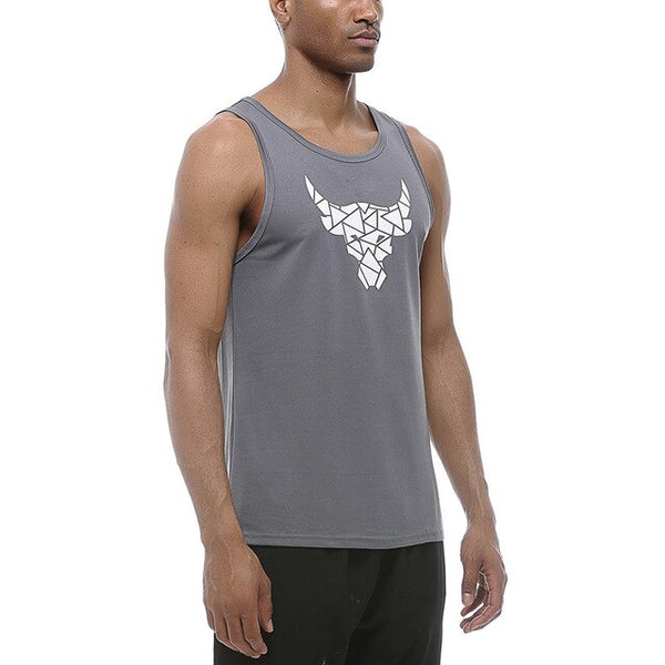 Mens Running Tank Top Elastic Quick Dry T-Shirt Sleeveless Gym Shirt Fitness Sportswear Bodybuilding Sling Vest Breathable Tops