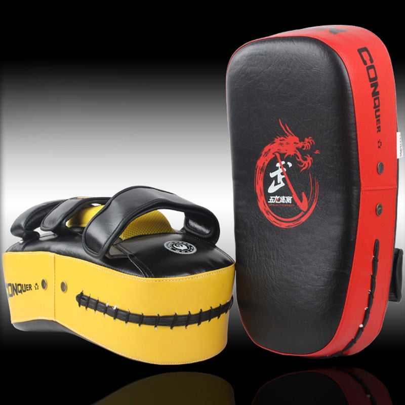 Muay Thai Kick Boxing Strike Curve Pads Punch MMA Focus Target Pad Boxeo 3 Color Optional
