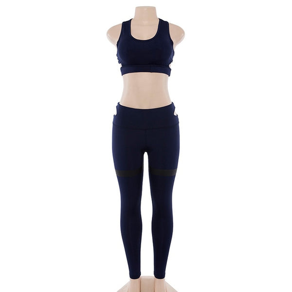 Gym Clothing Yoga Set Fitness Wear Leggings Sport Suit Work Out Sportswear Outfit Sports Legging Suits Workout Clothes for Women