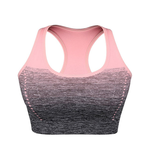 Women Yoga Bra Sport Bra Top Gradient High Stretch Sports Bras Quick Dry Sports Top for Fitness Running Gym Seamless Bra Tops