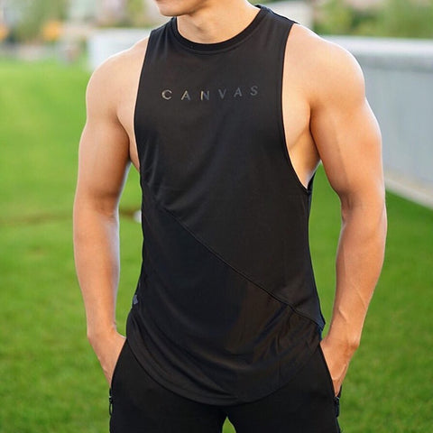 NEW Bodybuilding Sporty Tank Tops Men Gyms Fitness Workout Sleeveless Shirt Male Stringer Singlet Casual Fashion Undershirt Vest