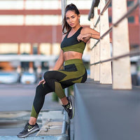 Seamless Workout Yoga Set Female Sport Gym Wear Running Clothes Women Tracksuit Sportswear Fitness Bra Long Sleeve+Leggings Suit
