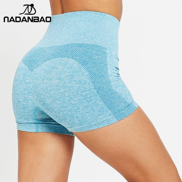 NADANBAO Fashion Short Women Leggings Fitness GYM Seamless Pants Sporting  High Waist Running Legins Sportwear For Workout Pants