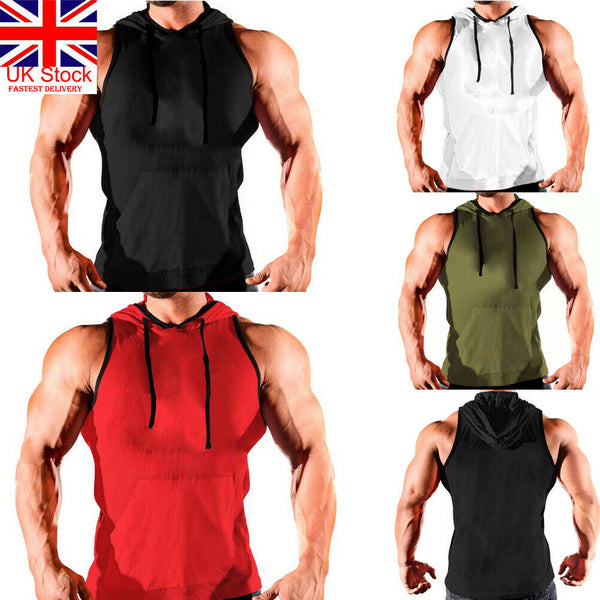 New arrival casual solid sport Men's Vest Tank Top Bodybuilding Gym Muscle Fitness Shirt Singlet Plus M-3XL