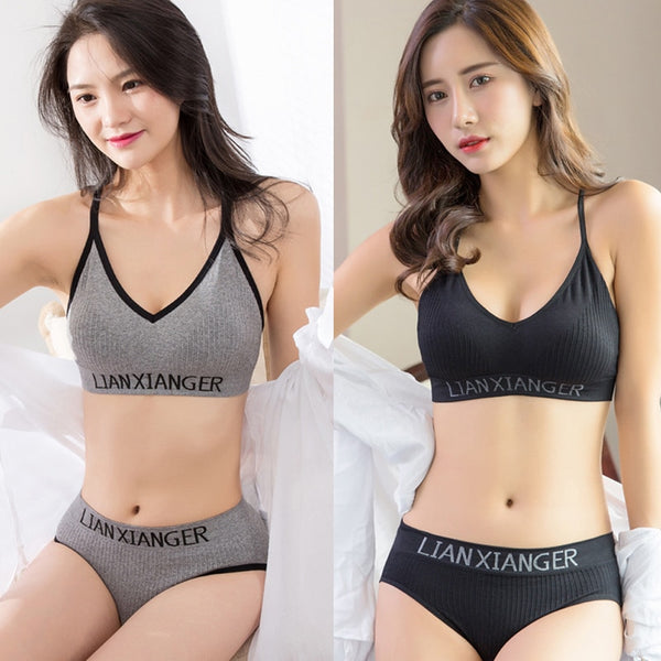 1set Sports Bra Top Push Up Fitness Running Yoga Bra Underwear Cotton Sport Tops For Women Gym Wear Solid Women Sportswear