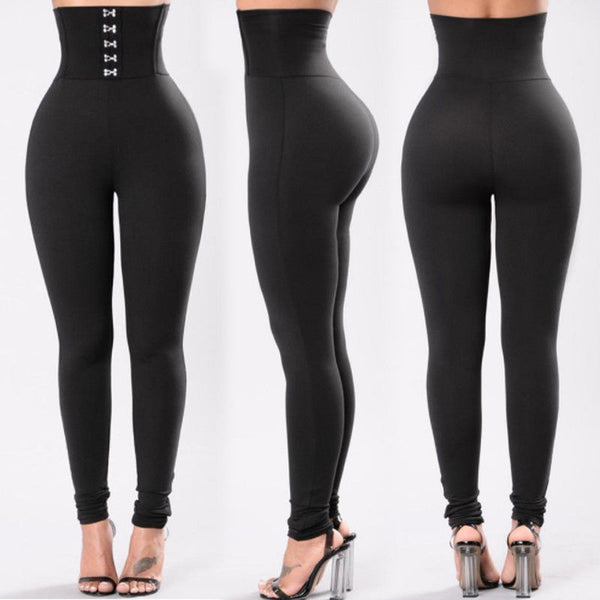 New Style Fashion Women Solid Fitness Leggings Ankle Length Stretch  High Waist Leggings