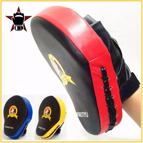 Quality Hand Target MMA Martial Thai Kick Pad Kit Black Karate Training Mitt Focus Punch Pads Sparring Boxing Bags
