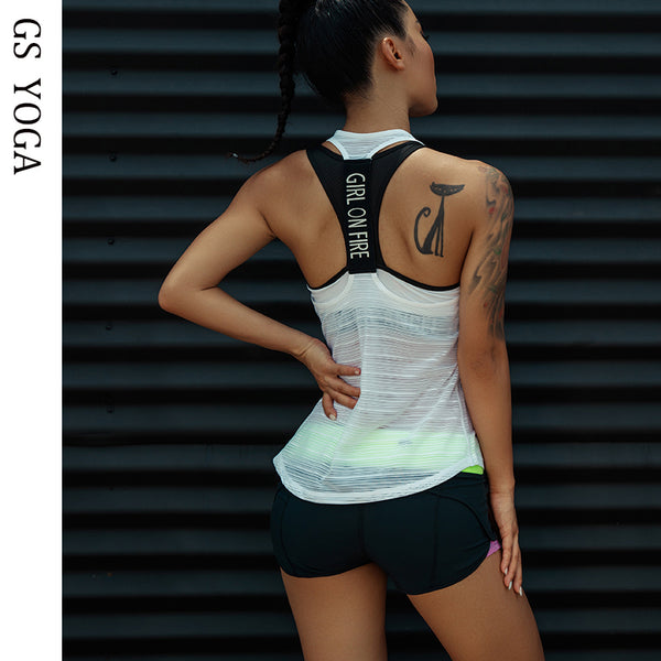 Women Sport tank Tops For Gym Vest Top Fitness Sleeveless T Shirt Sports Wear Yoga tank top Clothes Gym Vest Running workout