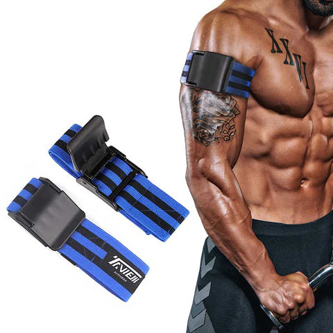 Bodybuilding Arm Blaster Leg Occlusion Blood Flow Restriction Training Resistance Bands Kaatsu Straps Gym Fitness Equipment