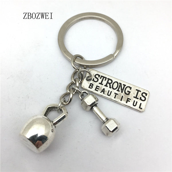 1 Dumbbell Kettlebell ST Weightlifting Keychain, Sports, Gym, Tailor Made