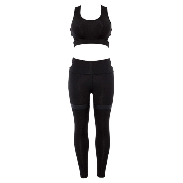 New Sexy Sprot Wear For Women Yoga Set Seamless Workout Gym Set Women 2 Piece Sport Clothes Leggings+sports Running Jogging